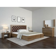 Двоспальне ліжко Арбор Древ Регіна Люкс ромб 160х200 бук (RLD160)