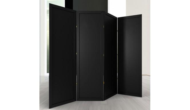 Ширма ДекоДім Економ на 4 секції 160х170 см, чорна (EBL-2)