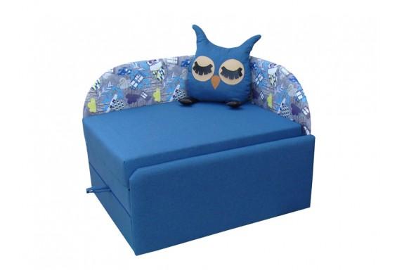 Дитячий диван ТМ Віка Сова, кут Г синій (VK021)