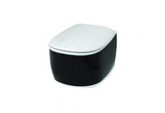 Підвісний унітаз ArtCeram Azuley, black white (AZV0010150)
