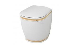 Підлоговий унітаз ArtCeram Azuley, gold stripes (AZV0020111)