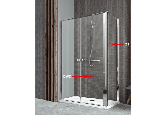 Двері для душової кабіни Radaway Eos II DWD+S 100, прозоре (3799492-01)