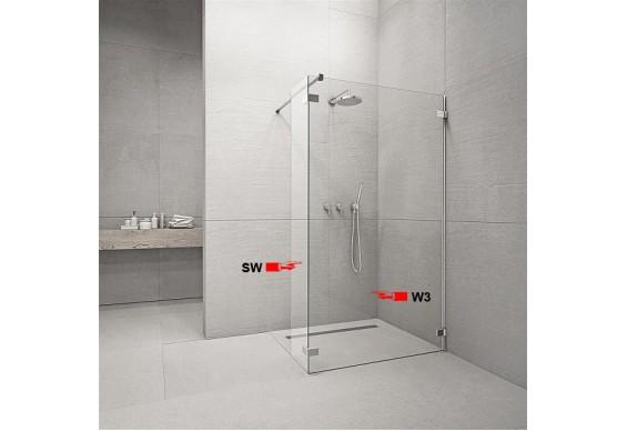 Фронтальна частина душової кабіни Radaway Euphoria Walk-in W3 130 (383135-01-01)