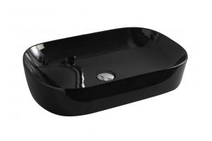 Умивальник на стільницю ArtCeram Ghost 65, glossy black (GHL0020300)