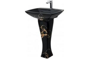 Підвісний умивальник ArtCeram Jazz, gold lettering black (JZL0030306)