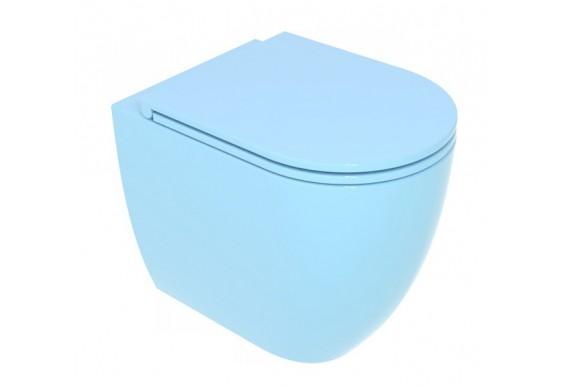 Унітаз підлоговий GSG LIKE 52,5 см Smart Clean glossy Sky (LKWC01022)