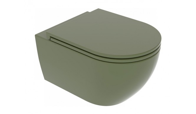 Підвісний унітаз GSG LIKE 52,5 см Smart Clean Olive (LKWCSO026)