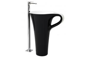 Підлоговий умивальник ArtCeram Oneshot cup, black white (OSL0040150)
