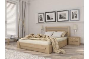 Двоспальне ліжко Естелла Селена з підйомним механізмом 140х190 буковий масив (LP-06)
