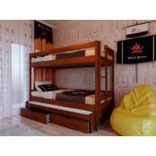 Двоярусне ліжко НеоМеблі Тріо 90х200 (NM35)