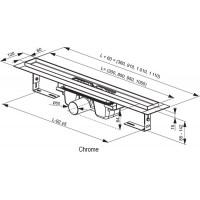 Трап Ravak Chrome 850мм (X01427)