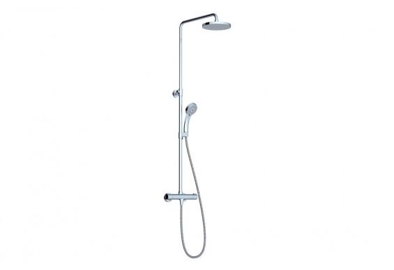 Душова система для душу Ravak Termo 100 TE 091.00/150 з термостатичним змішувачем і душовою лійкою (X070058)