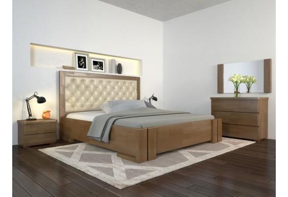 Двоспальне ліжко Арбор Древ Амбер з підйомним механізмом ромб 180х200 бук (ADZ180)