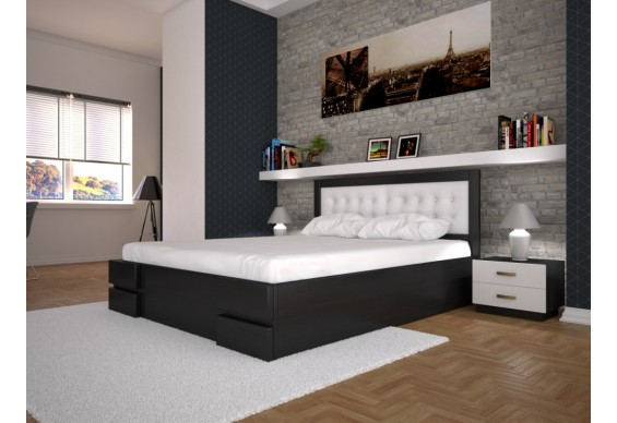 Двоспальне ліжко ТИС Кармен з підйомним механізмом 180x200 дуб (TYS210)