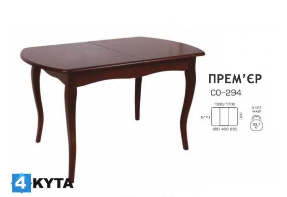 Стіл розкладний Мелітополь Меблі Прем'єр 1300(1700)х800 (СО-294)
