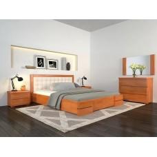 Двоспальне ліжко Арбор Древ Регіна Люкс з підйомним механізмом 180х200 бук (RLB180)