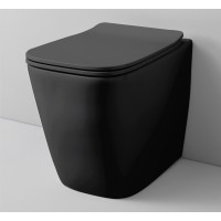 Підлоговий унітаз ArtCeram A16 THE. RIMLESS, glossy black (ASV0040300)