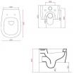 Підвісний унітаз ArtCeram Azuley, claudia (AZV0010109)
