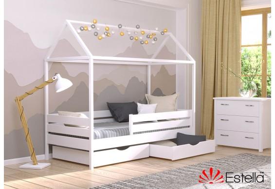 Двоярусне ліжко Естелла Аммі 80х190 буковий щит (EAMMI-01)