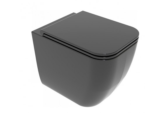 Унітаз підлоговий GSG BRIO 52,5 см Smart Clean glossy Black (BRWC01002)