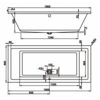 Ванна Vagnerplast Cavallo 190x90 см (VPBA190CAV2X-01)