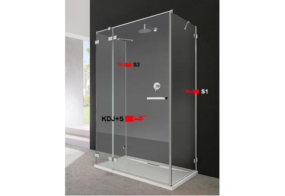 Бокова Стінка для душової кабіни Radaway Euphoria S1 110 (383053-01)