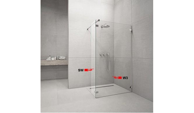 Фронтальна частина душової кабіни Radaway Euphoria Walk-in W3 140 (383136-01-01)
