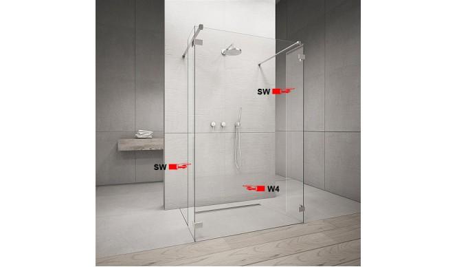 Фронтальна частина душової кабіни Radaway Euphoria Walk-in W4 120 (383144-01-01)
