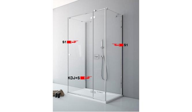 Двері для П-подібної душової кабіни Radaway Fuenta New KDJ+S S 100 праві (384022-01-01R)