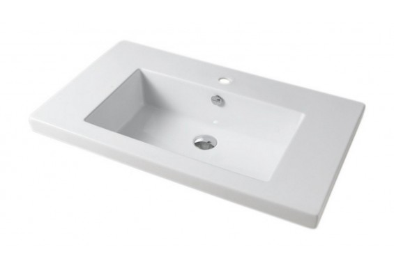 Врізний умивальник ArtCeram Gap 96, white (GPL0040100)