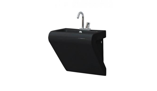 Підвісний умивальник ArtCeram La Fontana, glossy black (LFL0020300)