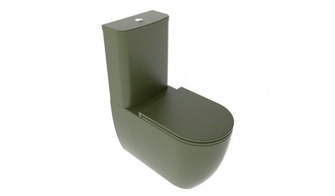 Унітаз моноблок GSG LIKE 69 см Smart Clean Olive (LKMBL026)