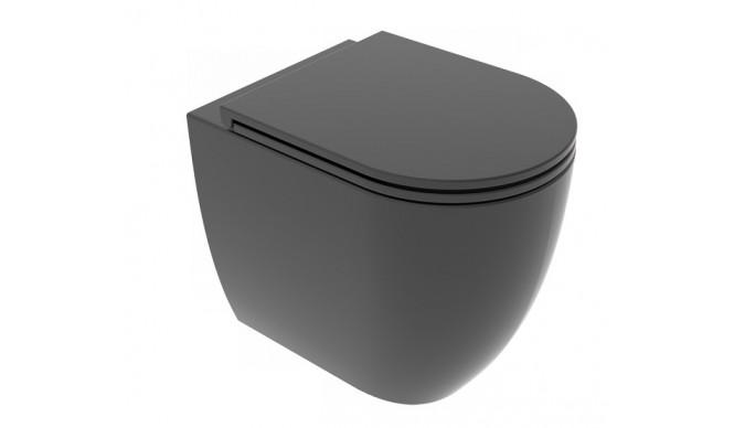 Унітаз підлоговий GSG LIKE 52,5 см Smart Clean matt Black (LKWC01003)