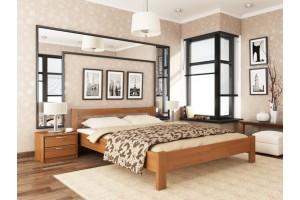Двоспальне ліжко Естелла Рената 140х200 буковий масив (DV-34)