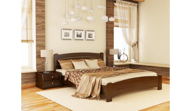 Односпальне ліжко Естелла Венеція Люкс 90х190 буковий масив (OL-17.2)