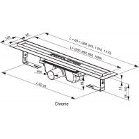 Трап Ravak Chrome 950мм (X01428)