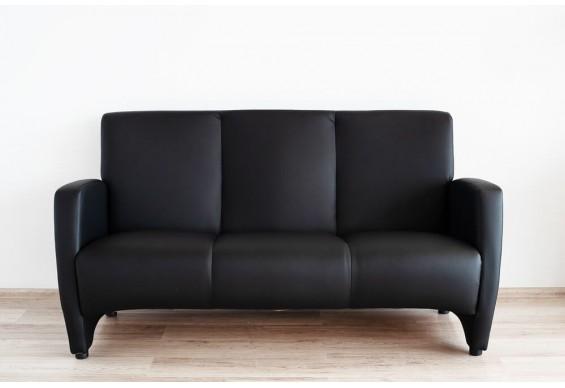 Прямий трьохмістний диван Embawood Сінді, чорний (EW-41)