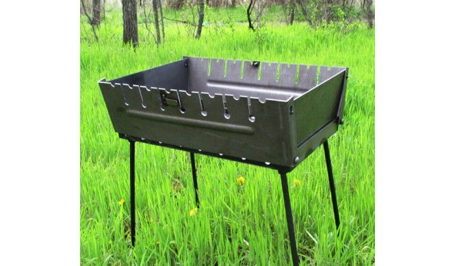 Мангал - чемодан ДекоДім на 6 шомпурів (SH-PA-22)