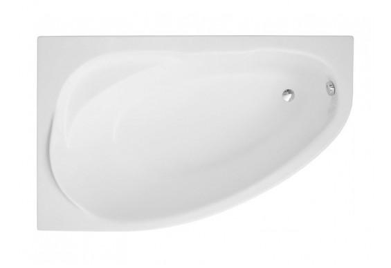 Ванна Polimat Marea асиметрична 160х100, L + ніжки (00534)