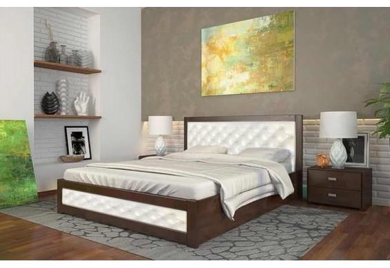 Двоспальне ліжко Арбор Древ Рената Д з підйомним механізмом ромб 160х200 сосна (RDR160)