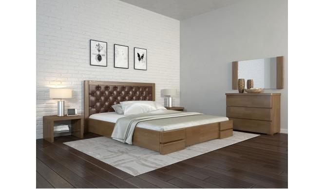 Двоспальне ліжко Арбор Древ Регіна Люкс ромб 180х200 бук (RLD180)