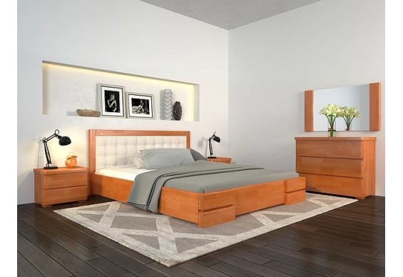 Двоспальне ліжко Арбор Древ Регіна Люкс 180х190 сосна (LS180.2)