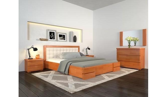 Двоспальне ліжко Арбор Древ Регіна Люкс з підйомним механізмом 180х190 сосна (RLS180.2)