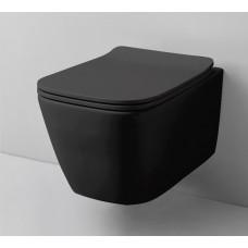 Підвісний унітаз ArtCeram A16, glossy black (ASV0010300)