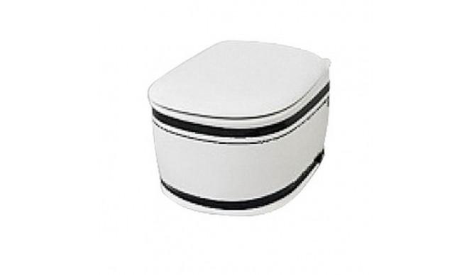 Підвісний унітаз ArtCeram Azuley, black stripes (AZV0010110)