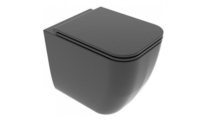 Унітаз підлоговий GSG BRIO 52,5 см Smart Clean matt Black (BRWC01003)
