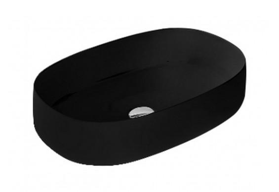 Умивальник на стільницю ArtCeram Cognac 55, glossy black (COL0030300)