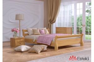 Двоспальне ліжко Естелла Діана 140х190 буковий масив (DV-10.2)