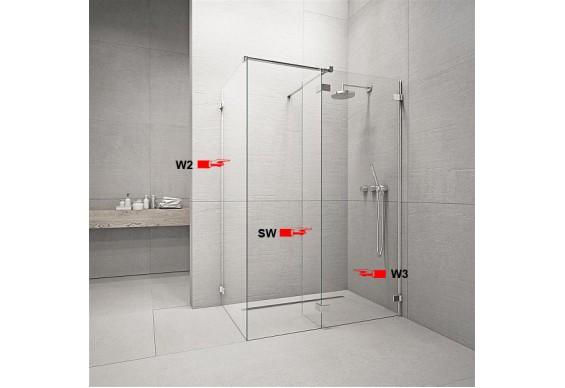 Бокова Стінка для душової кабіни Radaway Euphoria W2 80 (383120-01-01)