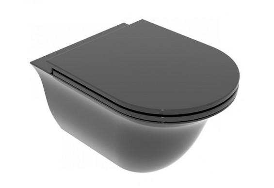 Підвісний унітаз GSG Flut 52,5 см Smart Clean glossy Black (FLWCSO002)